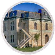 Blanco County Courthouse Round Beach Towel