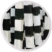 Blanco Y Negro Round Beach Towel