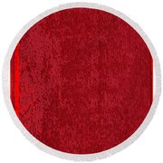 Blank Red Book Cover Round Beach Towel
