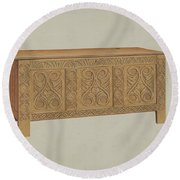 Blanket Chest Round Beach Towel