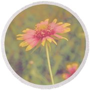 Blanket Flower Portrait Round Beach Towel