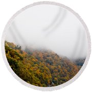Blanket Of Clouds Round Beach Towel by DigiArt Diaries by Vicky B Fuller