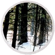 Blanketed In Snow Round Beach Towel