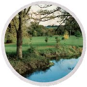 Blarney Castle Grounds Round Beach Towel