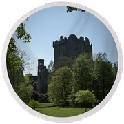 Blarney Castle Ireland Round Beach Towel
