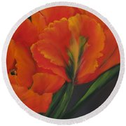 Blaze Of Glory Round Beach Towel
