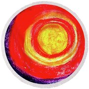 Blazing Round Beach Towel