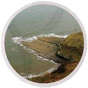 Blea Wyke Steel - Ravenscar Round Beach Towel