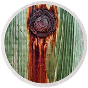 Bleeding Bolt Round Beach Towel