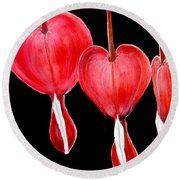 Bleeding Hearts Round Beach Towel