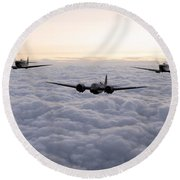 Blenheim And The Fighters Round Beach Towel