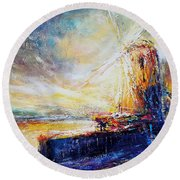 Blennerville Wind Mill Round Beach Towel