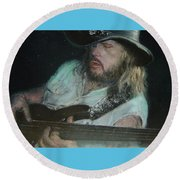 Blues Traveler Round Beach Towel
