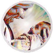 Blessed Mother Teresa Round Beach Towel