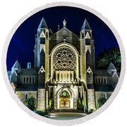Blessed Sacrement Cathedral Round Beach Towel