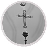 Blessed Skies Round Beach Towel