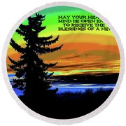 Blessings Of A New Day Round Beach Towel