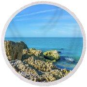 Blind Pass Sanibel-captiva Round Beach Towel