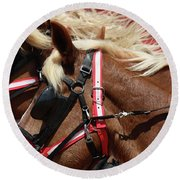 Blinders On Round Beach Towel