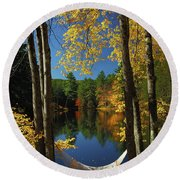 Bliss - New England Fall Landscape Hammock Round Beach Towel