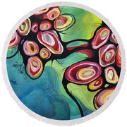 Bliss And Detachment Round Beach Towel