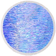 Blissful Blue Ocean Round Beach Towel
