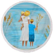 Blissful Breeze Round Beach Towel