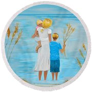 Blissful Day Round Beach Towel