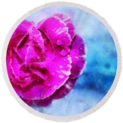 Blissful Pink Round Beach Towel