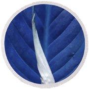 Blissfully Blue Round Beach Towel