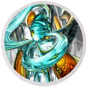 Blissfulness Abstract Round Beach Towel