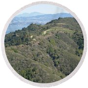 Blithedale Ridge On Mount Tamalpais Round Beach Towel