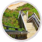 Block Island Beach - Rhode Island Round Beach Towel