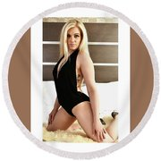 Blonde Ready Round Beach Towel