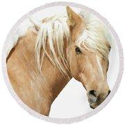 Blonde Stallion Round Beach Towel