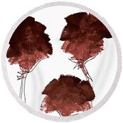 Blood Flower Part2 Round Beach Towel