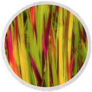 Blood Grass Round Beach Towel
