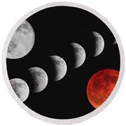 Blood Moon Of The Tetrad Round Beach Towel