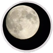 Blood Moon Round Beach Towel