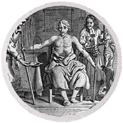 Blood Transfusion From Dog To Man, 1692 Round Beach Towel