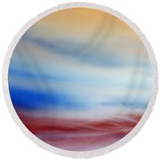 Bloody Clouds Round Beach Towel