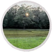 Bloody Pond Shiloh National Military Park Tennessee Round Beach Towel