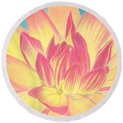 Bloom Round Beach Towel
