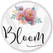 Bloom Round Beach Towel