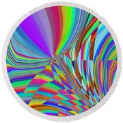Bloomin Colorful Round Beach Towel