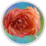 Blooming 4 Round Beach Towel