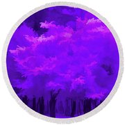 Blooming Amethyst Round Beach Towel