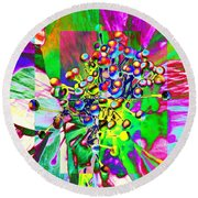 Blooming Delightful Round Beach Towel