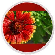 Blooming Flower Round Beach Towel
