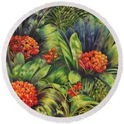 Blooming Gorgeous Round Beach Towel